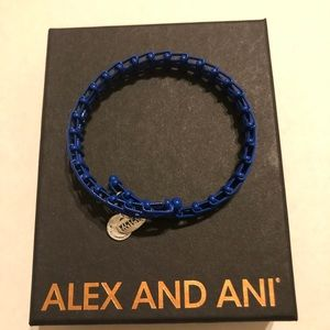 Alex and Ani Blue Vintage 66 Wrap Bracelet